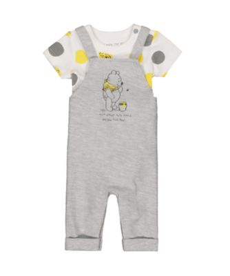Disney baby winnie the pooh dungaree and bodysuit set