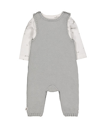peter rabbit dungarees and bodysuit set