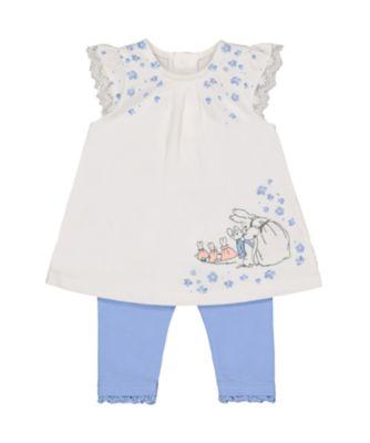 peter rabbit dress and leggings set