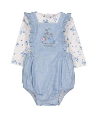 peter rabbit bibshorts and bodysuit set