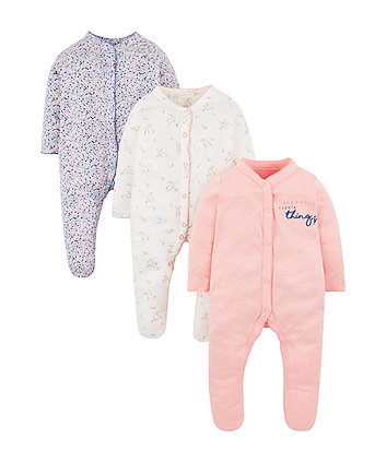 sweetest little thing sleepsuits - 3 pack