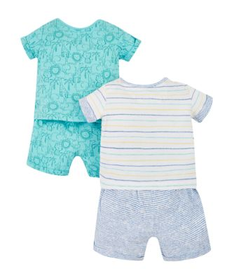 jungle animals shortie pyjamas – 2 pack