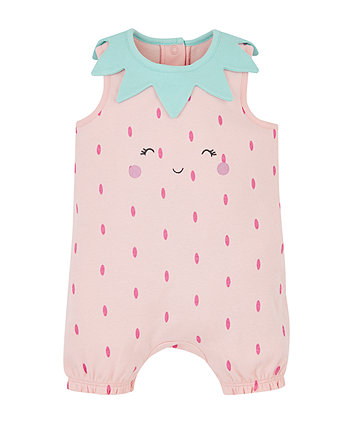strawberry fruit romper