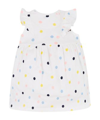 multicoloured spot dress