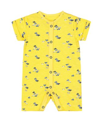 yellow cars romper