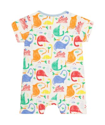 multicoloured dinosaur romper