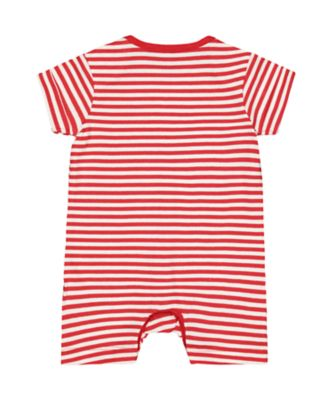 hugs for milk red stripe romper