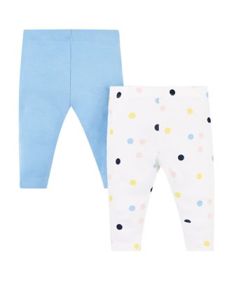 blue and spot leggings – 2 pack