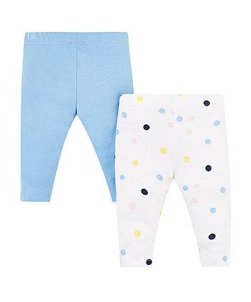 blue and spot leggings – 2 pack