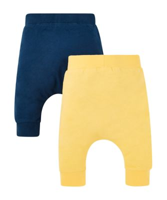 blue and yellow joggers -2 pack