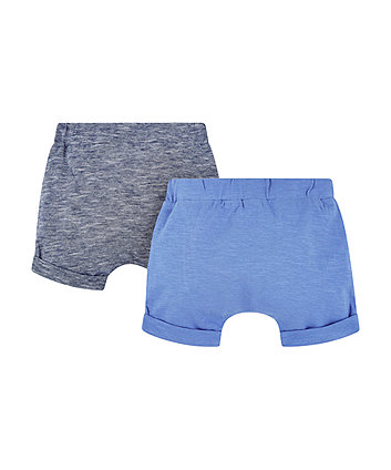 blue and stripe shorts – 2 pack