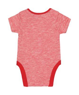 i love you so much red stripe bodysuit