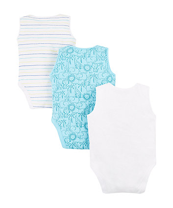 safari animal bodysuits - 3 pack