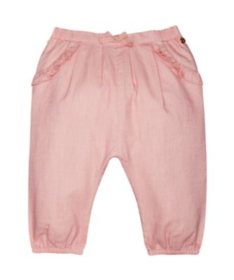 coral chambray harem trousers