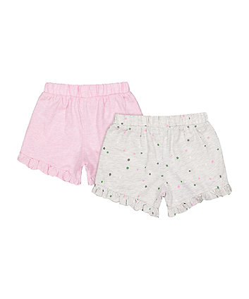 pink spot shorts - 2 pack