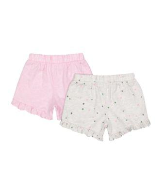 pink spot shorts - 2 pack
