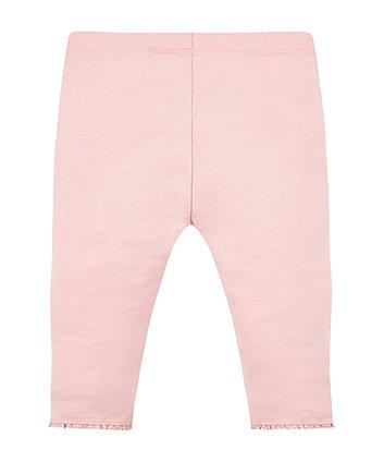 pink crochet frill leggings
