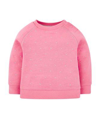 pink spot sweat top
