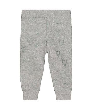 grey heart joggers