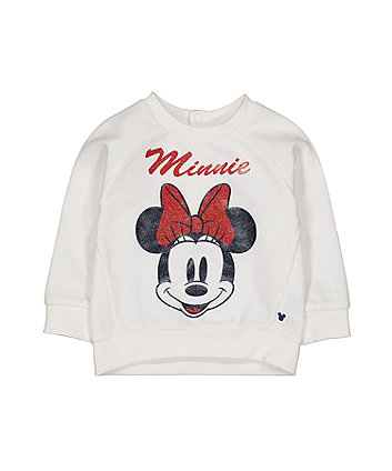 Disney minnie glitter sweat top