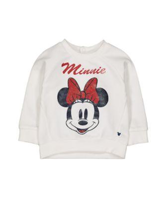 Disney minnie glitter sweat top