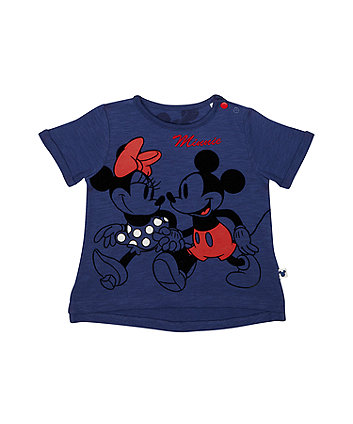 Disney minnie and mickey navy t-shirt