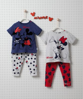 Disney minnie and mickey navy t-shirt