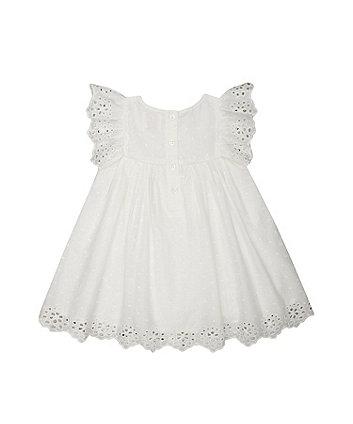 white broderie dress