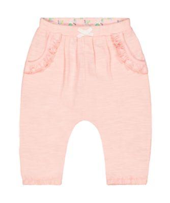 pink harem trousers