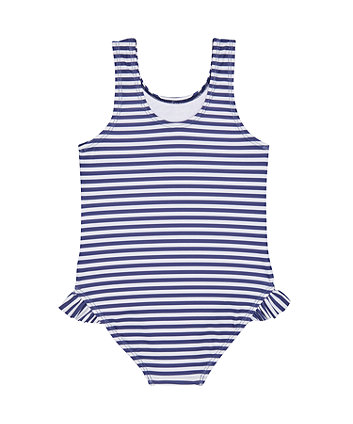 blue lovely ladybird stripe swimsuit