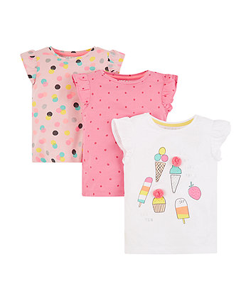 ice cream and spot t-shirts – 3 pack