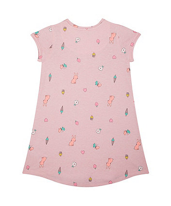 ice-cream and cupcake pink trapeze dress