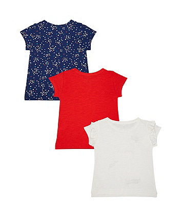 cat, hearts and red t-shirts – 3 pack