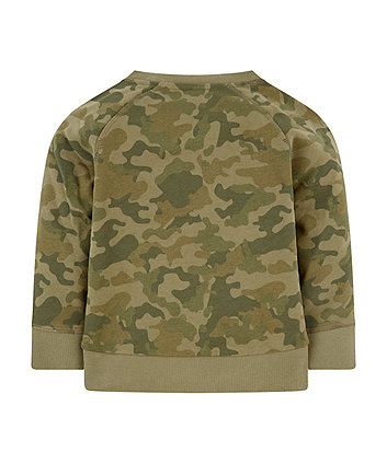 khaki camo sweat top