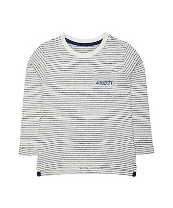striped lightweight sweat top