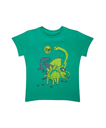 green dinosaur t-shirt