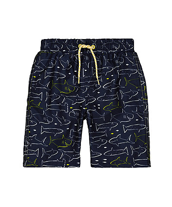 navy shark board shorts