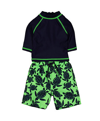 turtle swim shorts and rash vest