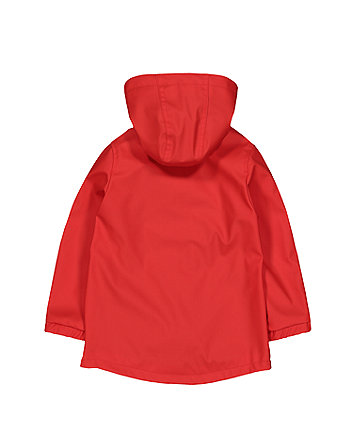 red coated jersey lined mac