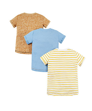 lion and blue t-shirts – 3 pack
