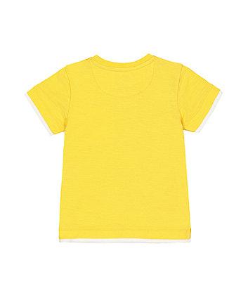 yellow mock layer t-shirt