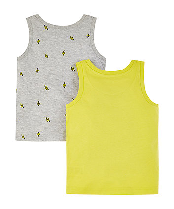 turn it up and lightning bolt vests – 2 pack
