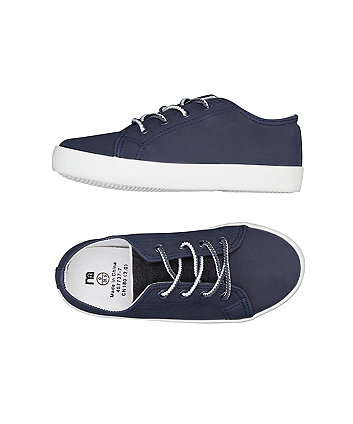 navy lace-up shoes