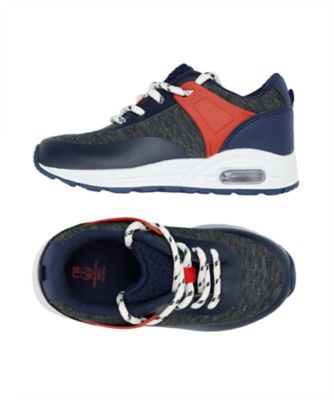 navy and grey marl trainers