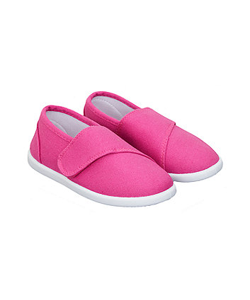 hot pink canvas pumps