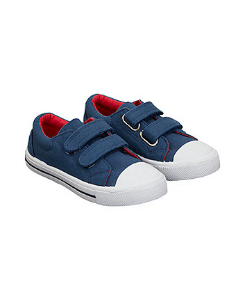 plain navy trainers