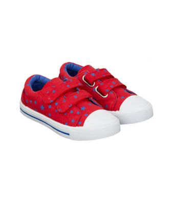 red and blue star trainers