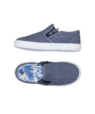 denim double zip canvas shoes