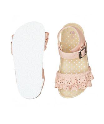 ruffle pink sandals