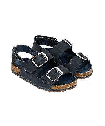 camo navy sandals